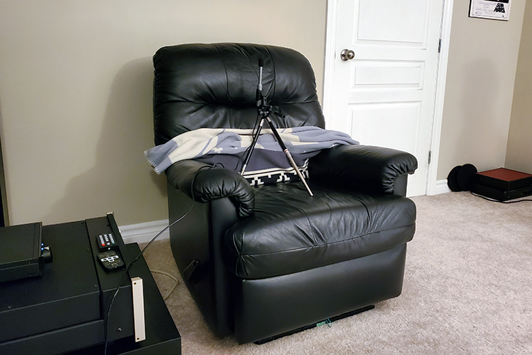 Chair with no blanket